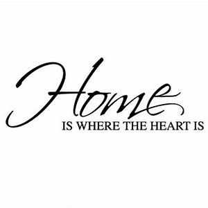 Home Is Where The Heart Is Wall Sticker - Wall Quotes Wall