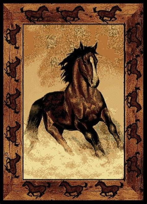 stallion border rug