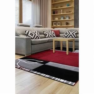 Tapis Noir Et Rouge : tapis noir et rouge moderne courtes m ches atsina ~ Dallasstarsshop.com Idées de Décoration