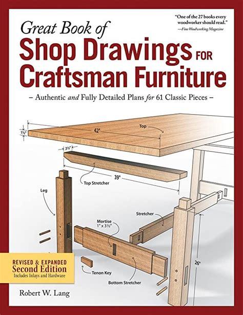great book  shop drawings  craftsman furniture