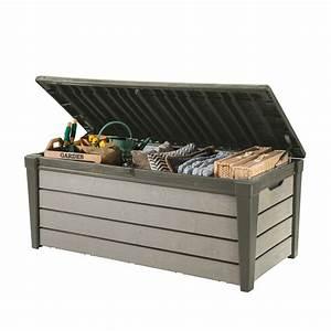 Auflagenbox Mit Sitzfunktion : keter auflagenbox kissentruhe brushwood box 455 liter ~ Buech-reservation.com Haus und Dekorationen