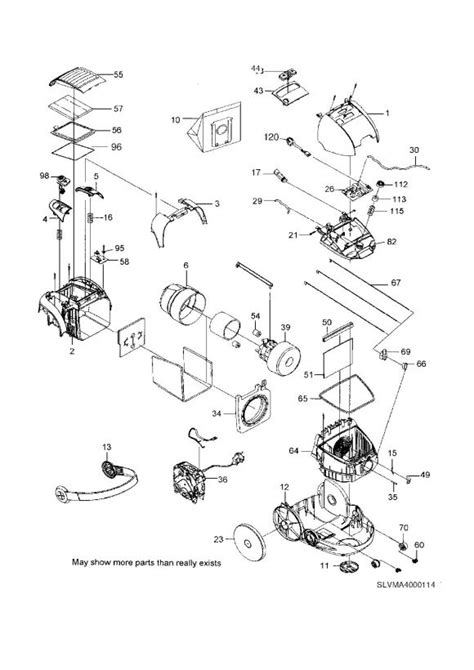 electrolux z5561 scarabe green 90727530100 vacuum cleaner na spare parts diagram