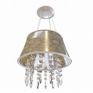 Pendant light crystal drop d model ds max files free