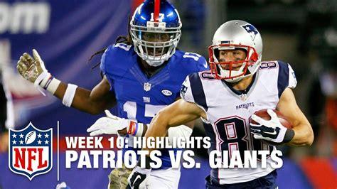 patriots  giants week  highlights nfl youtube