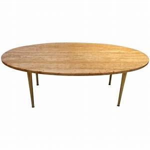 mid century modern marble and brass tapered legs oval With mid century modern marble coffee table