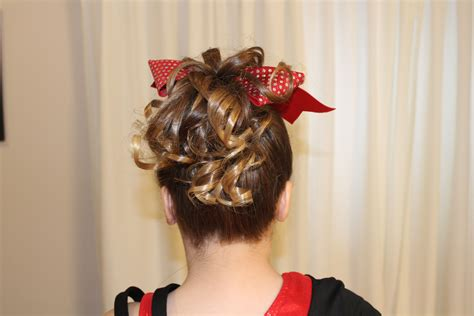 cheerleader hair updos and special occasion hairstyles