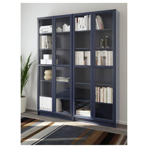 ikea billy regal türen billy oxberg bookcase blue 160x202x30 cm ikea the