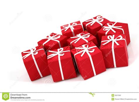 packages of christmas gifts stock photo image 3537350