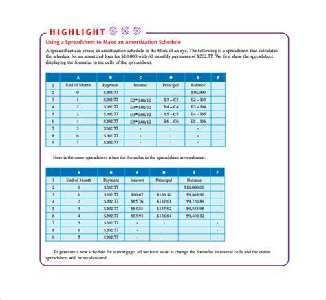 loan amortization table calculator sle loan amortization calculator 8 free documents in pdf