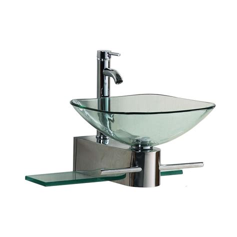 wall mounted basin sink kokols wall mounted bathroom sink in clear 0799861325307