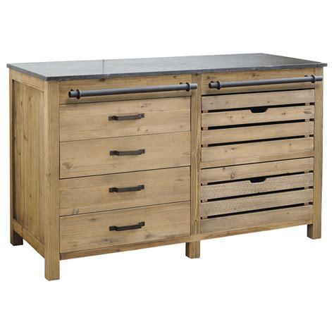 meuble bas de cuisine but meuble bas de cuisine en bois recyclé l 140 cm pagnol
