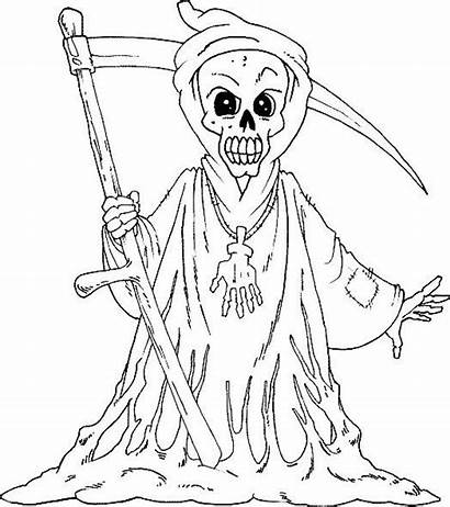 Coloring Pages Scary Halloween Printable