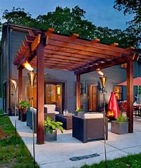 inspiring pergola patio design ideas Patios Ideas: Back Yard Deck With Pergola And Patio Ideas ...