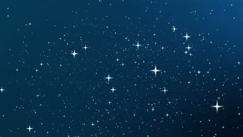 Night Sky With Star Full Stock Footage Video 100