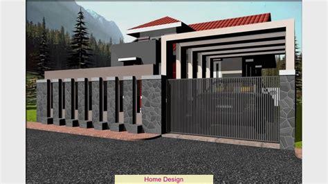 desain pagar rumah minimalis batu alam youtube