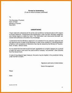 Letter Of Undertaking Format  The Best Letter Sample