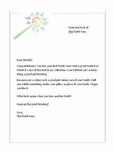 first lost tooth letter from the tooth fairy free tooth With letter from the tooth fairy template