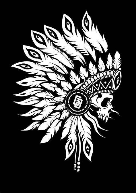 https://www.behance.net/gallery/35063813/INDIAN-for-Garand-Brand   Indian skull tattoos, Skull