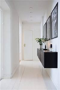 deco couloir d39entree design en noir et blanc With couleur pour couloir sombre 6 10 deco couloir canons pour sinspirer deco cool