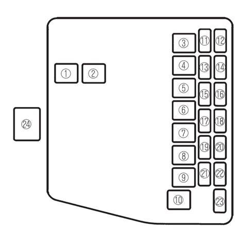 2003 Protege Alarm Wiring Diagram by Mazda Proteg 233 2002 2003 Fuse Box Diagram Auto Genius