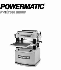 Powermatic Planer 209 User Guide
