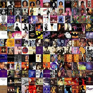 prince collage album song  covers wall art canvas