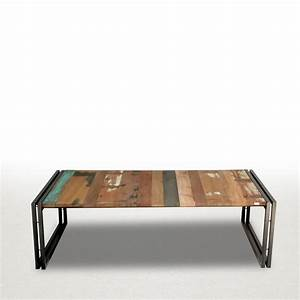 Table Salon Industriel : mobilier table table de salon style industriel ~ Teatrodelosmanantiales.com Idées de Décoration