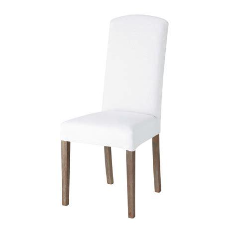 housse de chaise casa housse de chaise en blanche maisons du monde