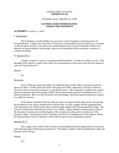 child custody character reference letter father  court