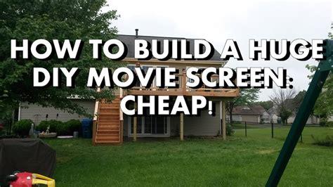 diy   build  huge backyard  screen cheap