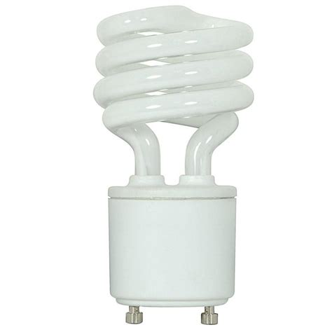 satco 9w mini twist 2700k gu24 base compact fluorescent
