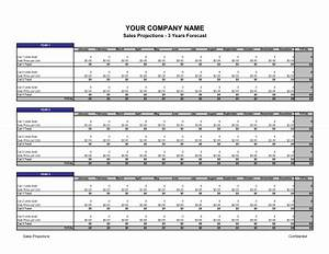 sales projections template sample form biztreecom With sales projection template free download