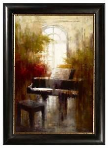 Piano framed canvas wall art traditional artwork