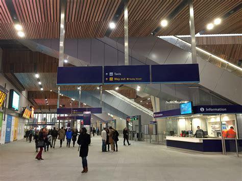 london bridge station newly unwrapped  january