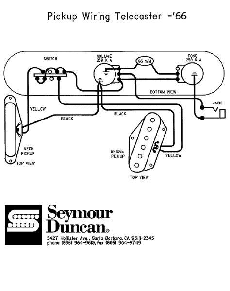 66 telecaster wiring diagram seymour duncan telecaster