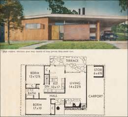 Mid Century Home Plans Ideas by Mid Century California Modern House Plan Better Homes