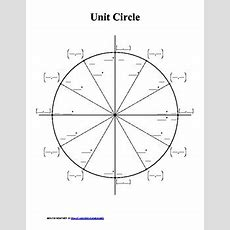 Unit Circle  Blank And Completed By Solutionstomath Tpt