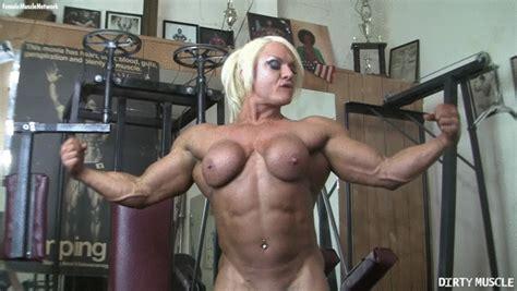 Femalemusclenetwork Naked Female Bodybuilder Porn Star