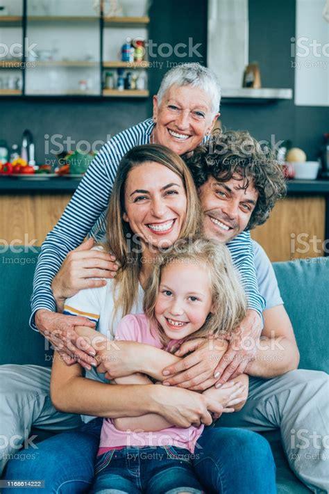 Portrait Of Multi Generation Family Stock Photo - Download ...