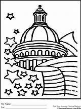 Coloring Government Pages Washington Dc Drawing Building Capitol Dome Branches Printable Drawings Sheets Three Template Books Usa America Ginormasource Colouring sketch template
