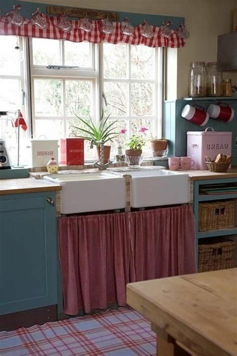 retro country kitchen k 252 chenvorh 228 nge dienen als sonnenschutz und peppen ihre 1927