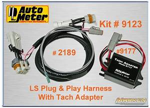 Autometer Ls Plug And Play Harness With Tach Adapter