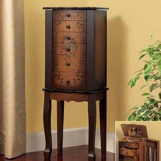 Essential Home Twotone Hand Painted Jewelry Armoire