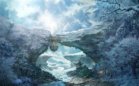 Blade And Soul Backgrounds Frozen Landscape Video Games Artwork