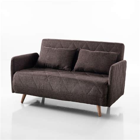 Divano Letto 120 - divano letto traffic tessuto marrone apertura
