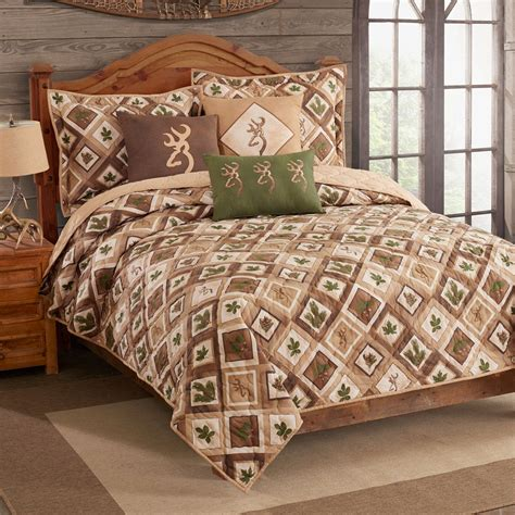 Quilt And Sham Set by Nature Buckmark Quilt And Sham Set Blanket Warehouse