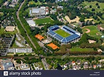Aerial view, Carl-Benz-Stadion Mannheim, football stadium ...