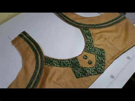 Boat Neck Ki Cutting by Designer Blouse Back Neck Design Cutting And Stitching In