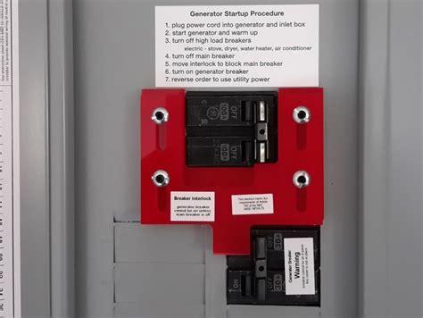 ge 7 generator interlock kit for general electric breaker