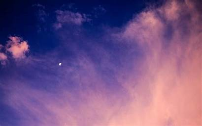 Moon Clouds Sky Twilight Atmosphere Ultra Background